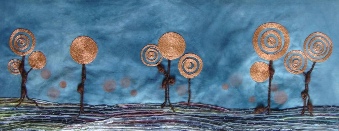 print copper landscape